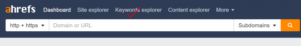 ahrefs keyword explorer tool