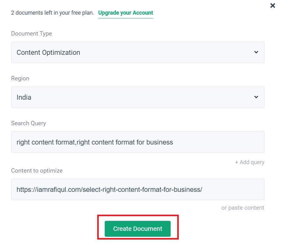 content optimization using ai tool