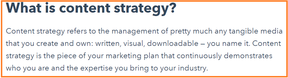 definition of content-strategy