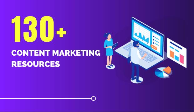 130+ content marketing resources