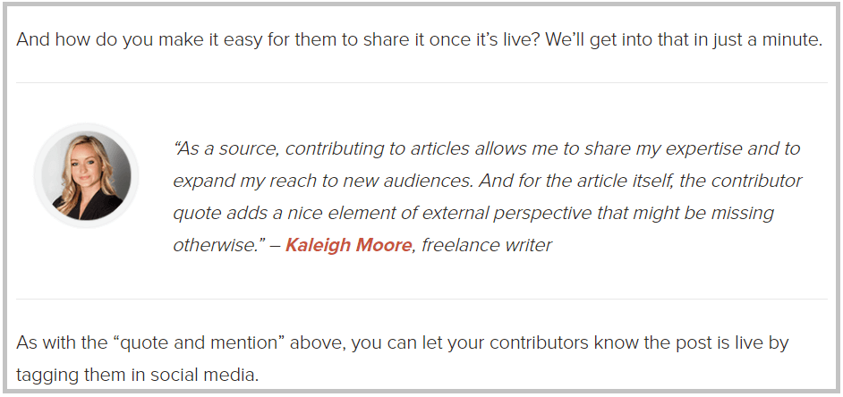 contributor quotes in content marketing